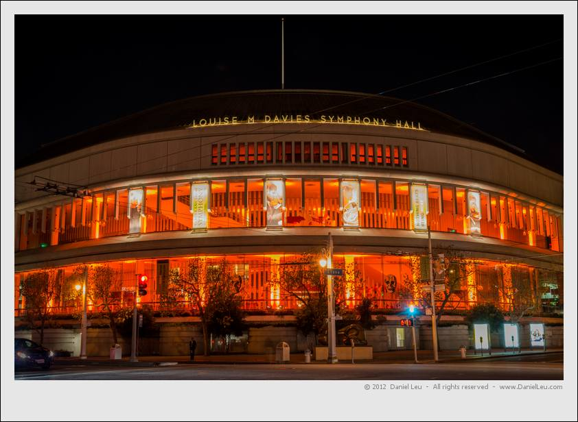 Davies Symphony Hall in Orange