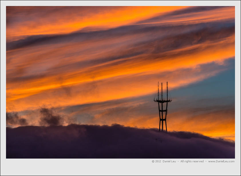San Francisco's Sutro Tower at Sunset