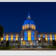 City Hall shines in Blue and Gold