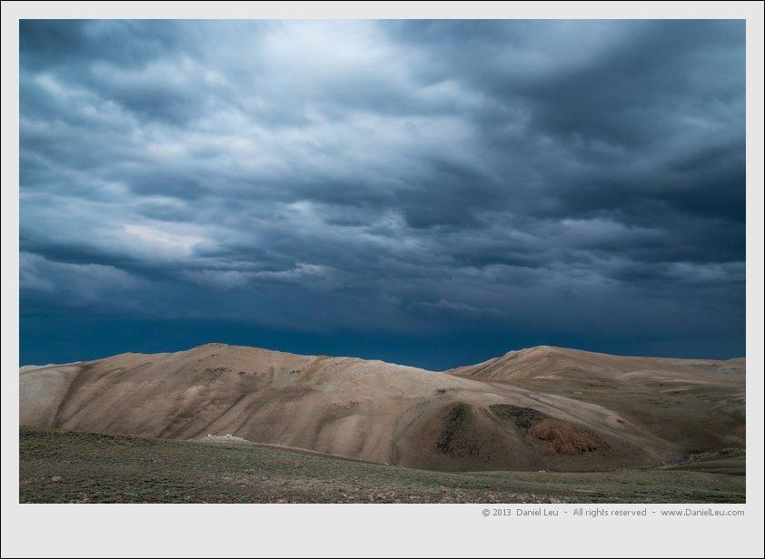 White Mountains range at dusk