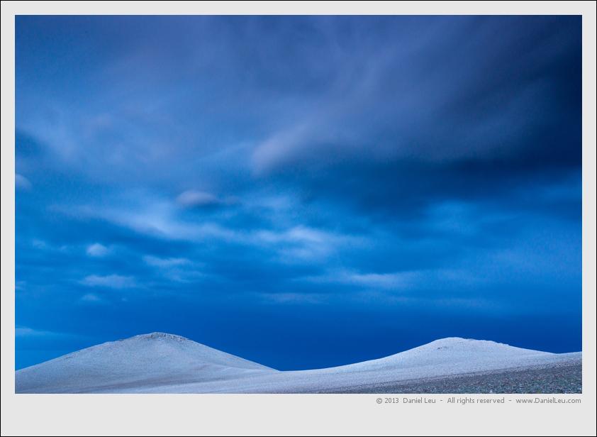 White Mountains range with dolomite peaks at dusk