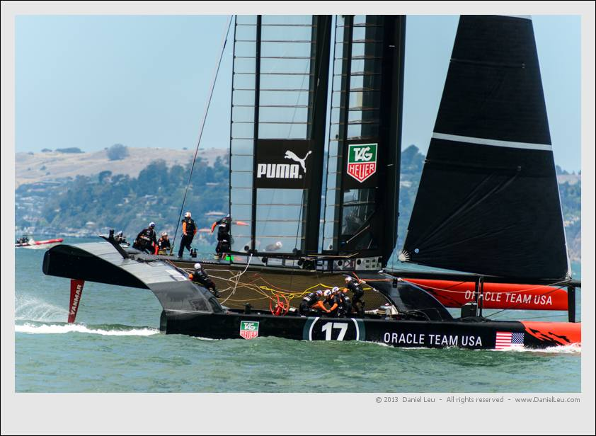 Oracle 2 finishing its jibe, but didn't stay on its foils