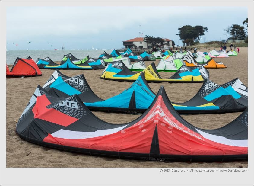 Kite sails ready for launch