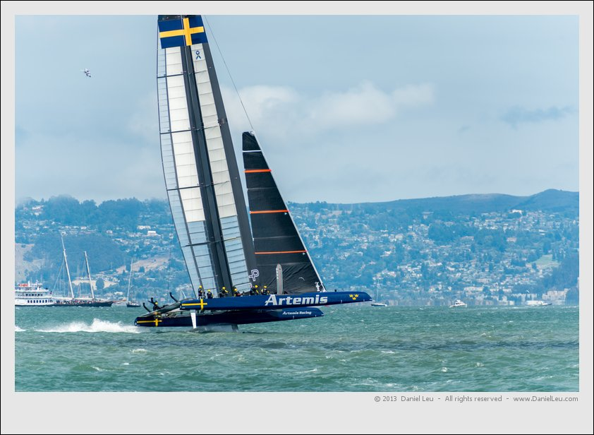 Artemis foiling towards mark 7