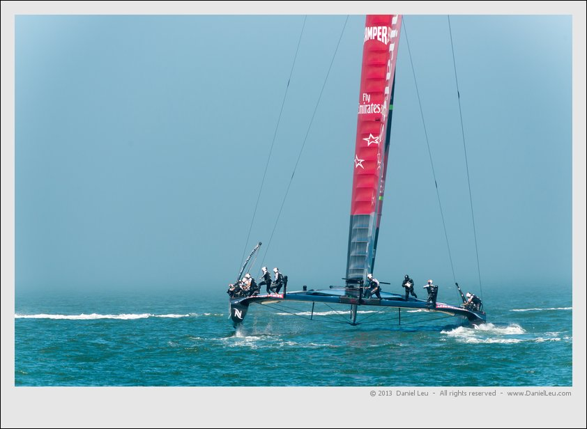 Team Emirates New Zealand heading up to the start line, 2.