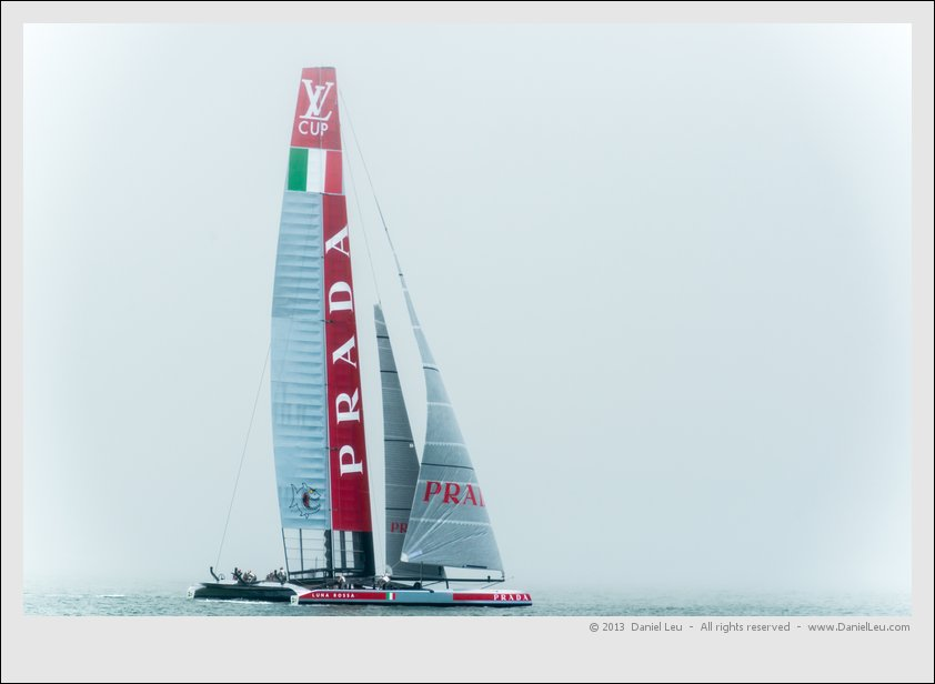 Luna Rossa uses a spinnaker as well