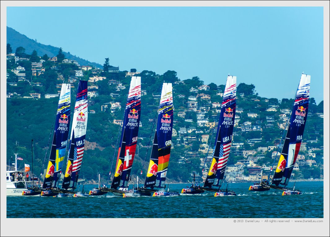 Start of race 7 of RedBull Youth America's Cup