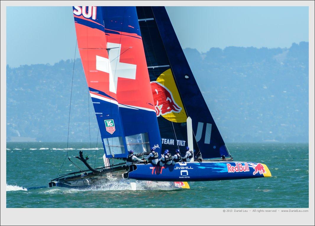 Team Tilt practicing downwind sailing