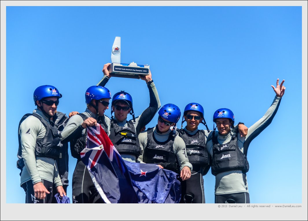 Winning NZL Sailing Team on the podest
