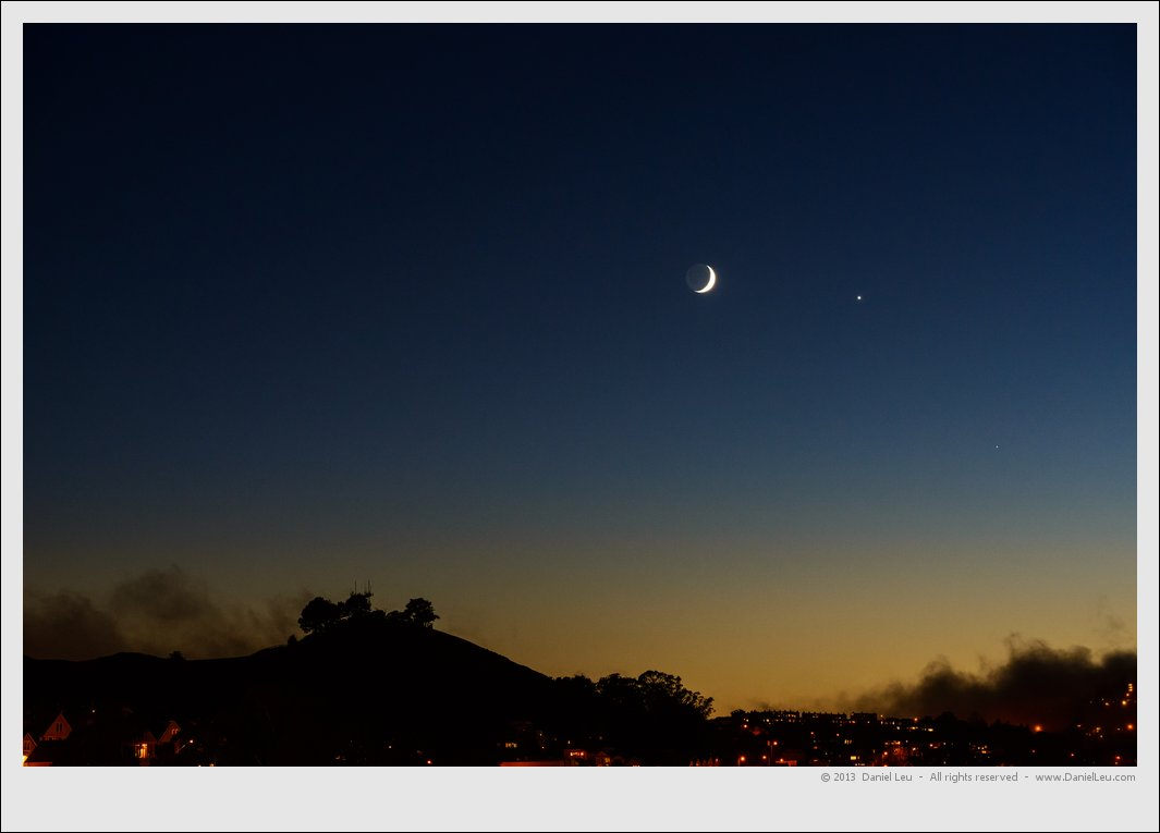 Moon and Venus over Bernal Heights