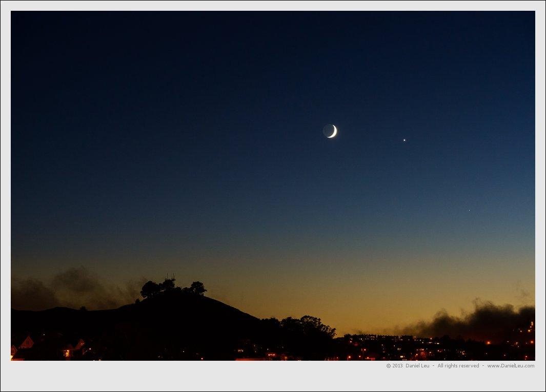 Moon and Venus over Bernal Heights