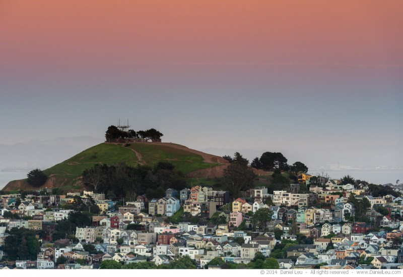 Bernal Heights Park at Dusk