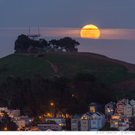 Full Moon over Bernal Heights Park
