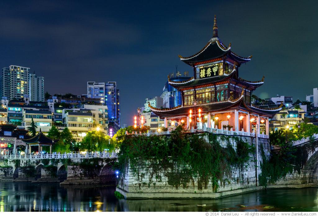 Jiaxiu Tower at Night