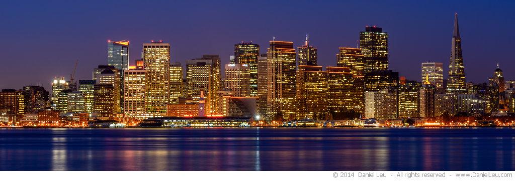 San Francisco Waterfront at Dawn