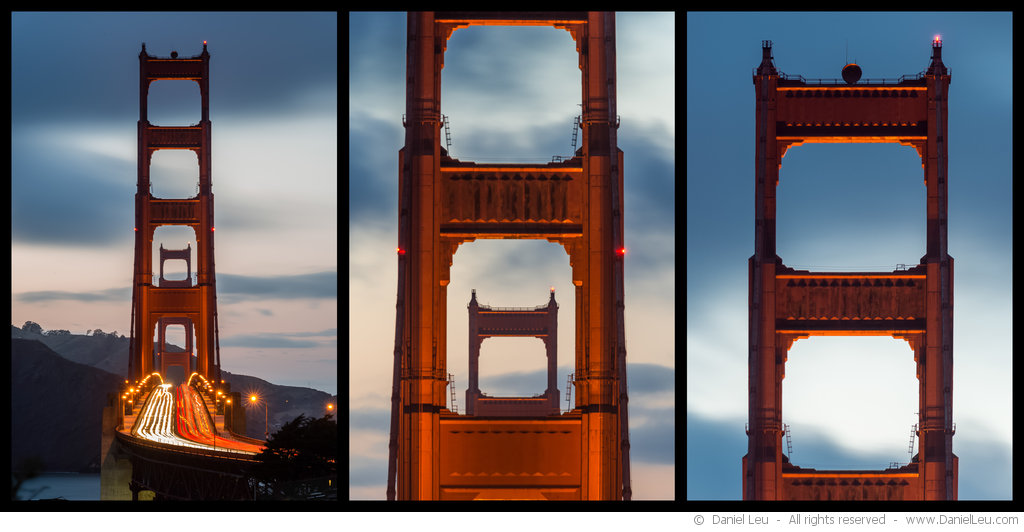 Golden Gate Bridge Triptych