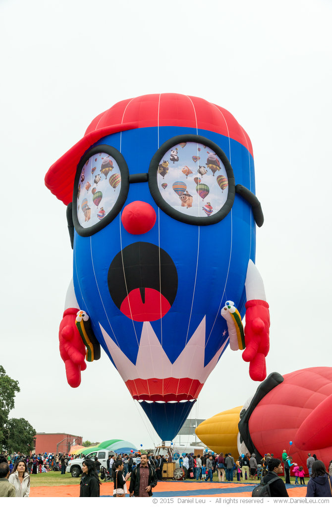 Pencil Boy hot air balloon