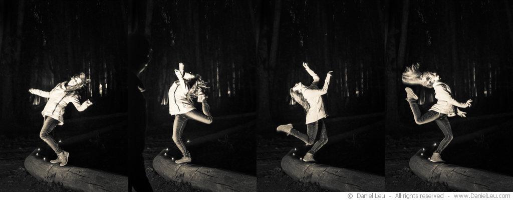 Dancing Natalie, quadriptych