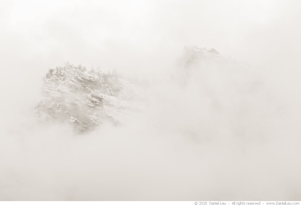 Cathedral Spires in the Fog, Yosemite National Park