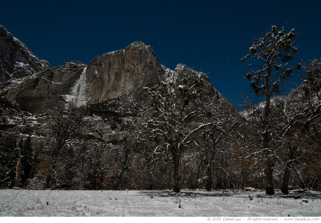 Yosemite Falls with Stars