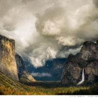 Yosemite Valley under Clouds