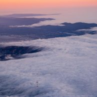 Sutro Tower in a sea of clouds