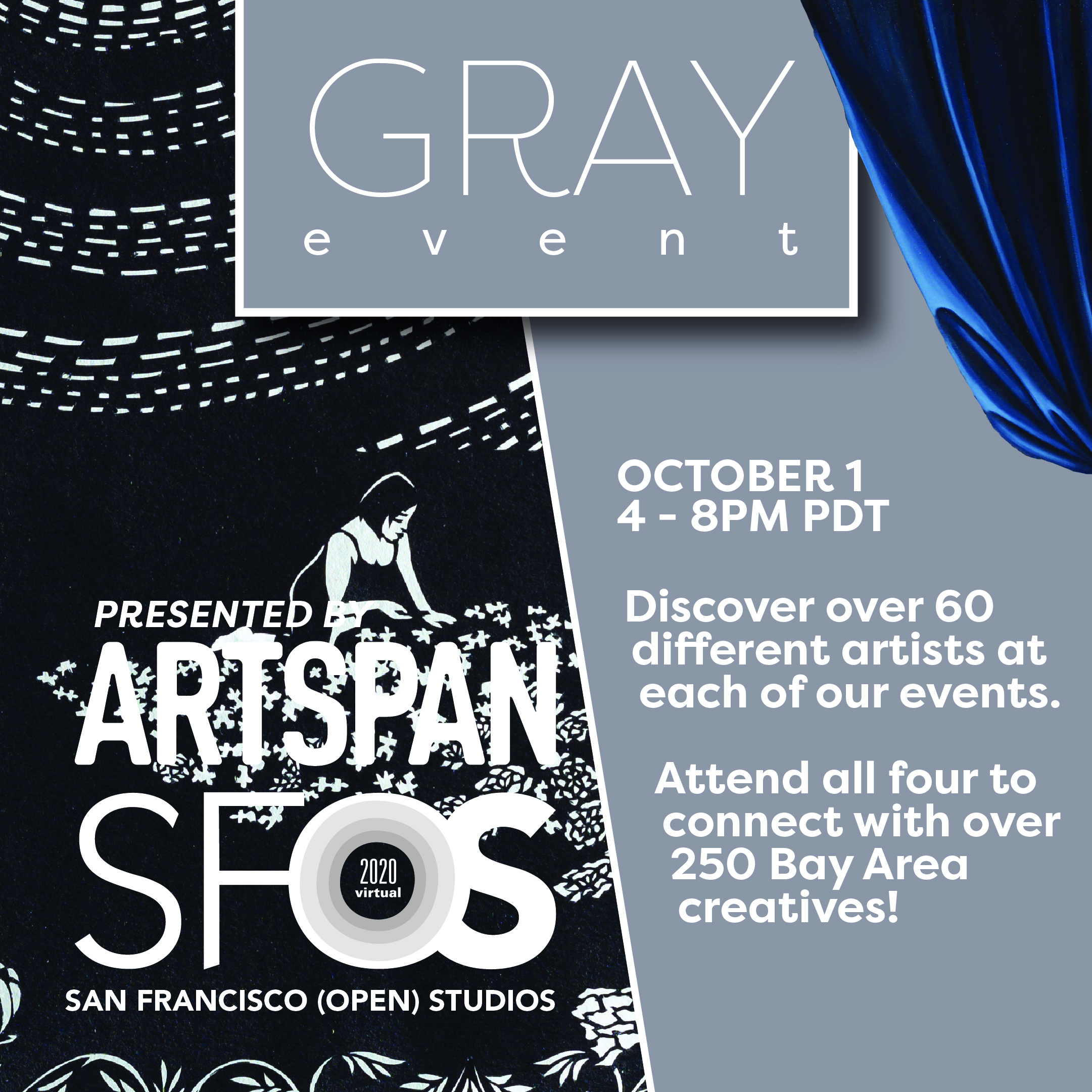 ArtSpan Gray Event infos