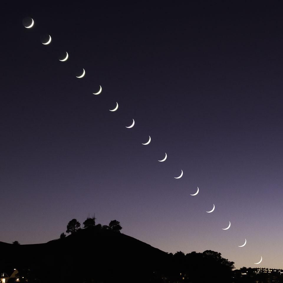 Crescent Moon Sequence over Bernal Heights