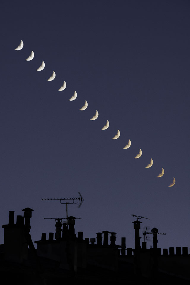 Crescent Moons over Paris