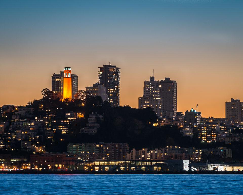 Illuminated Coit Tower