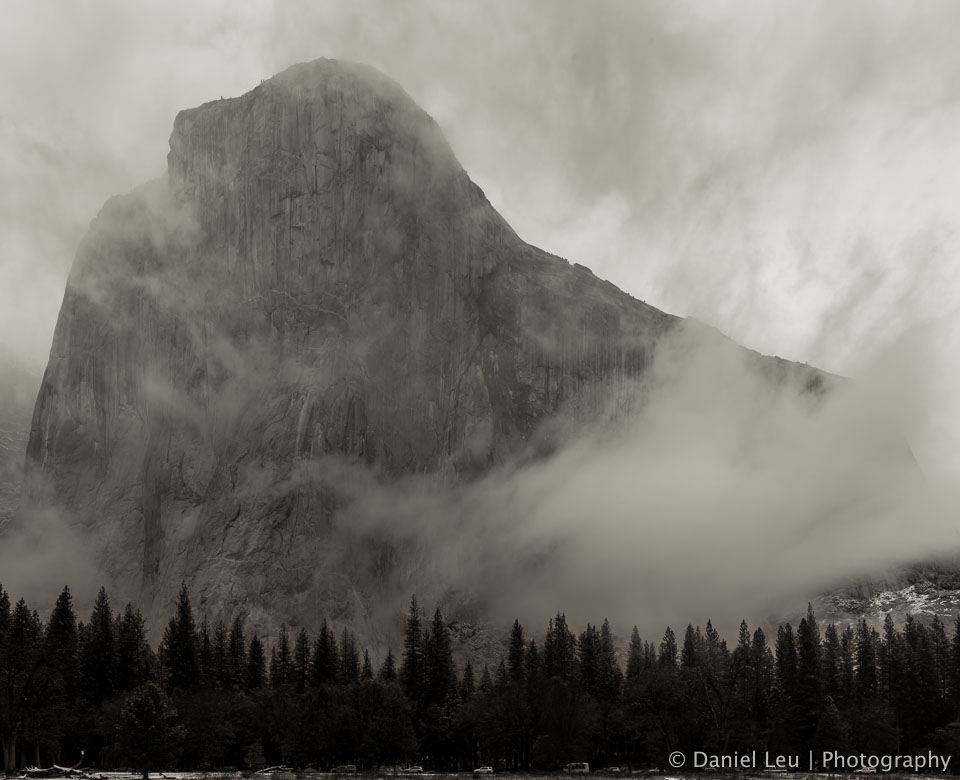 El Capitan with Fog, Yosemite National Park