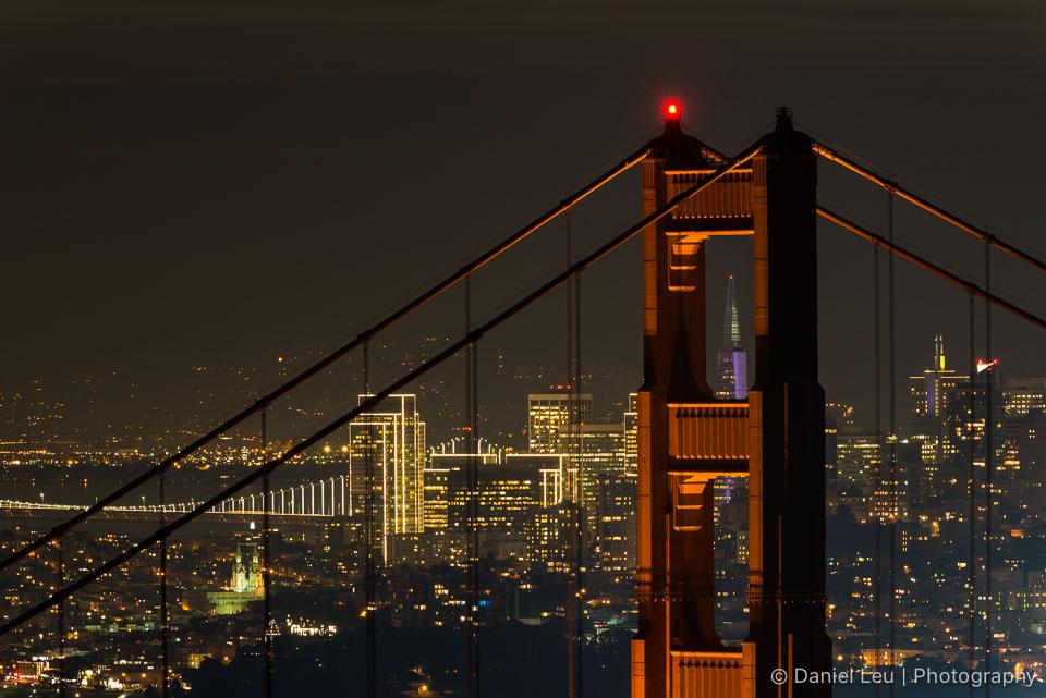 Golden Gate Bridge with Transamerica