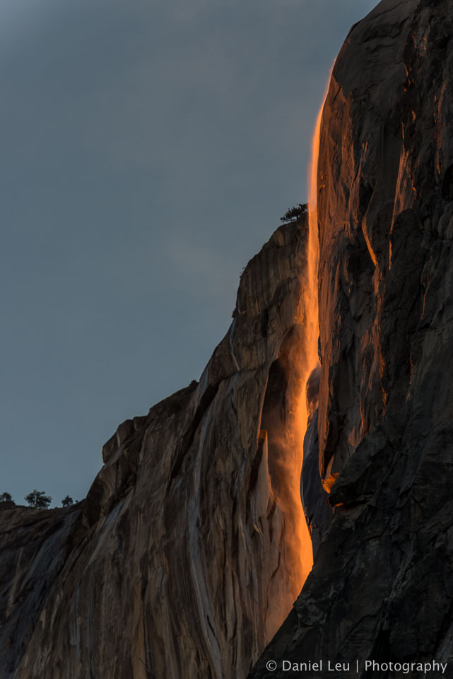 Glowing Horsetail Fall