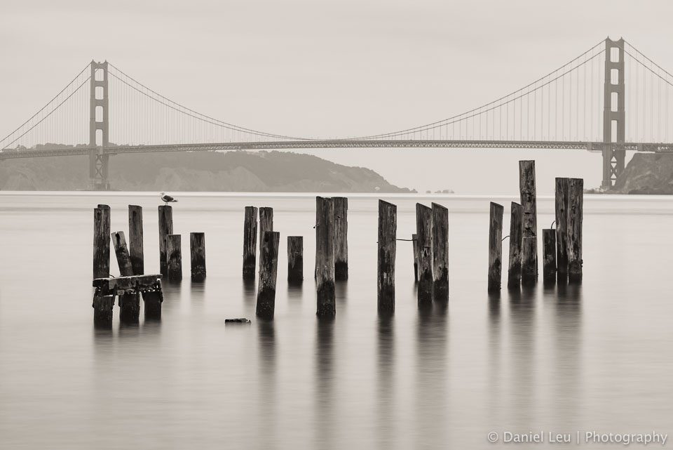Golden Gate Bridge with Pilings
