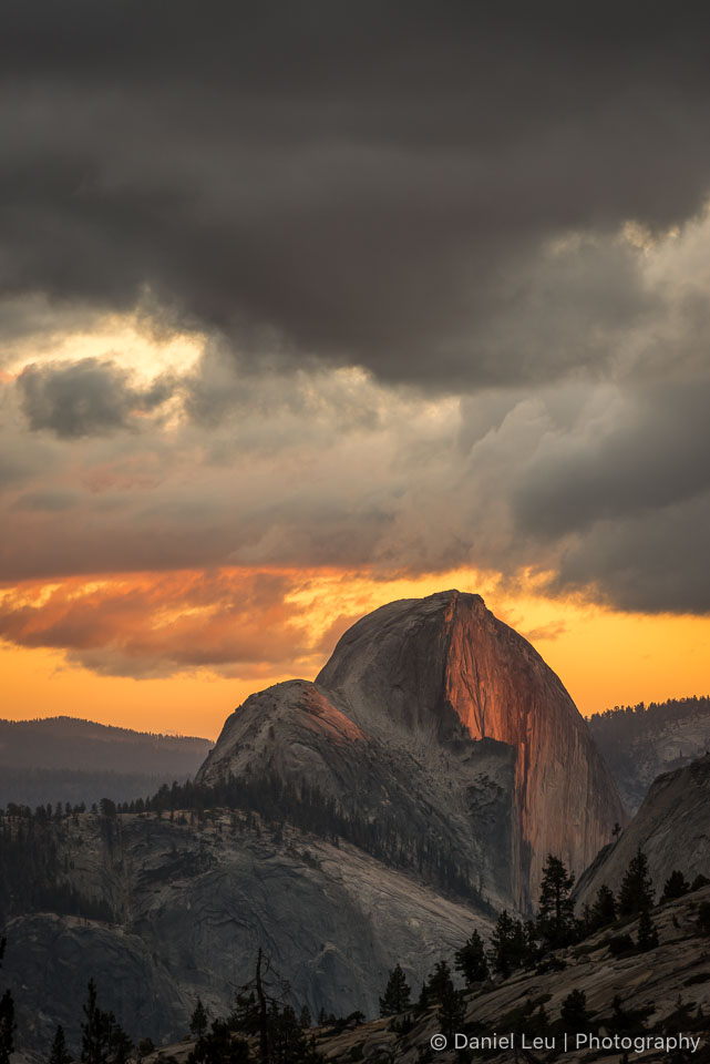 Half Dome with Alpenglow