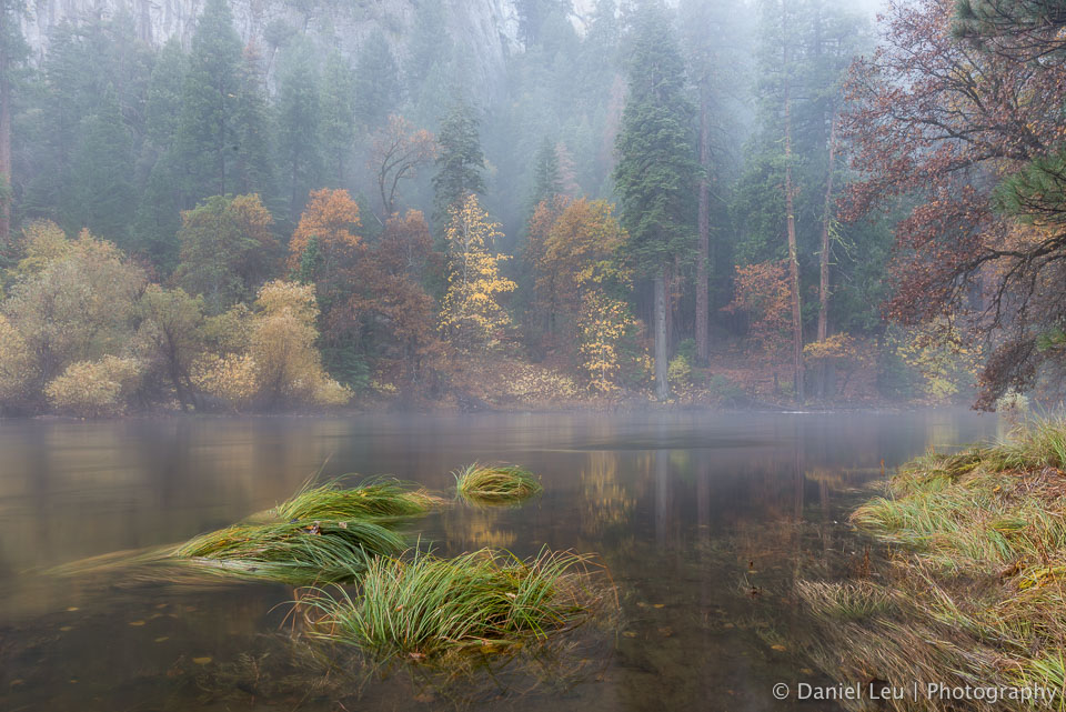 Mystic Merced River with Fall Colors