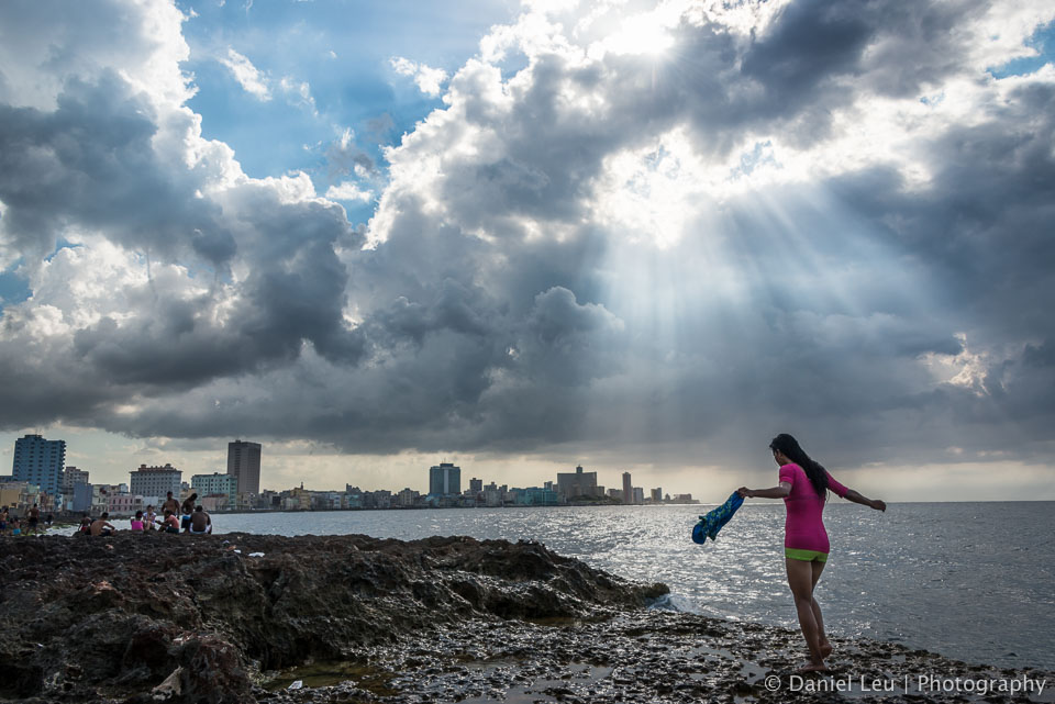 Girl at the Malecón