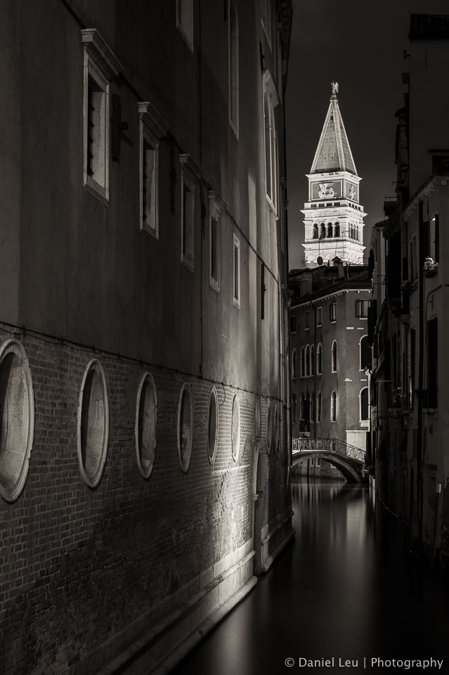 The Bell Tower at Night – Venice