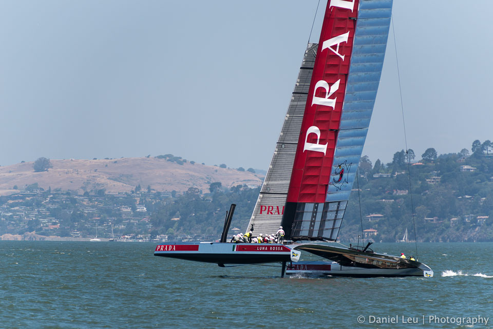 America's Cup training session with Luna Rossa in the San Francisco bay.
