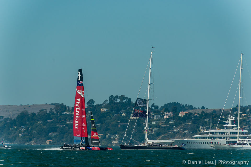 America's Cup 2013 San Francisco, race 1 and 2. Team Oracle Racing USA against Emirates Team New Zealand