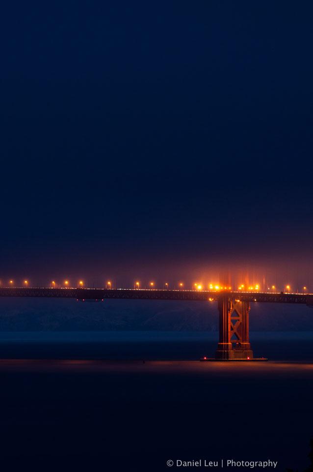 Golden Gate Bridge at Dusk with Fog