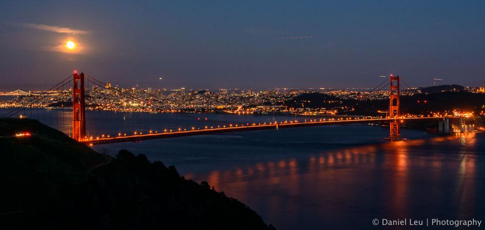 Full Moon and the Golden Gate Bridge