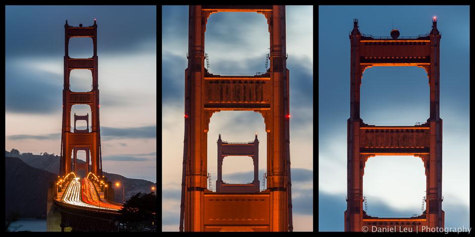 Golden Gate Bridge Triptych