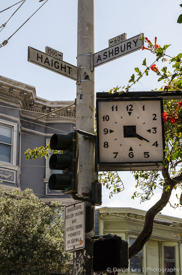 Clock at Haight and Ashbury