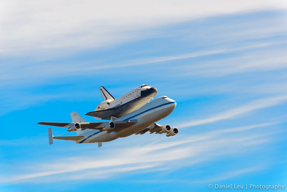 Space Shuttle Endeavour on SCA