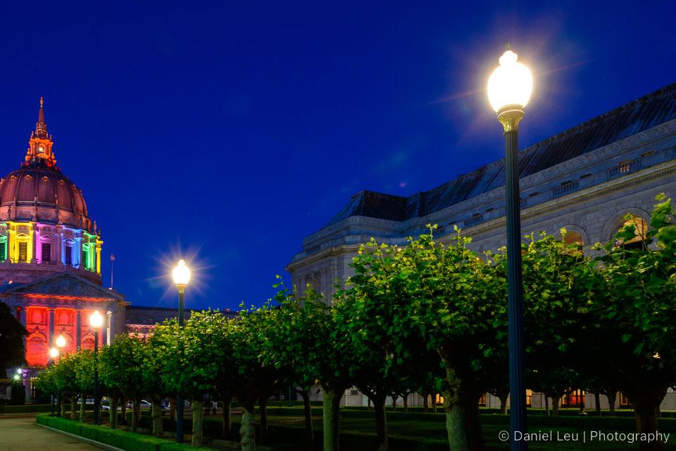 Hidden City Hall with park