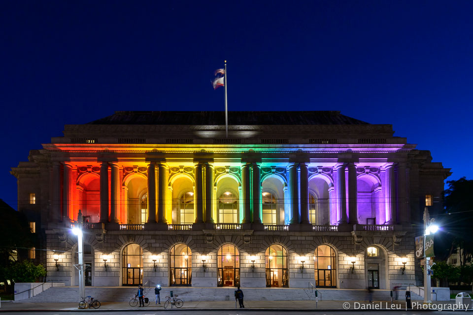 War Memorial Opera House with Rainbow Colors