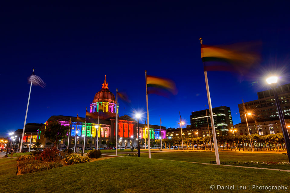 More rainbow flags with City Hall