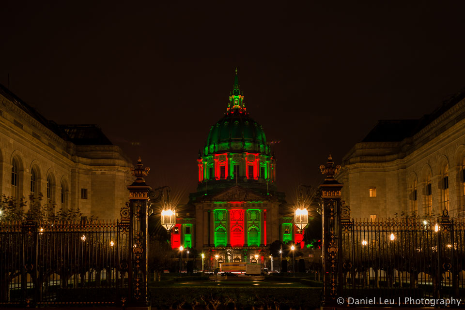 San Francisco City Hall in Festive Colors