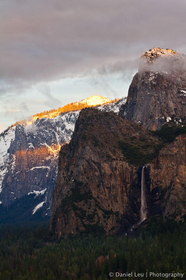 Bridalveil Fall at sunset